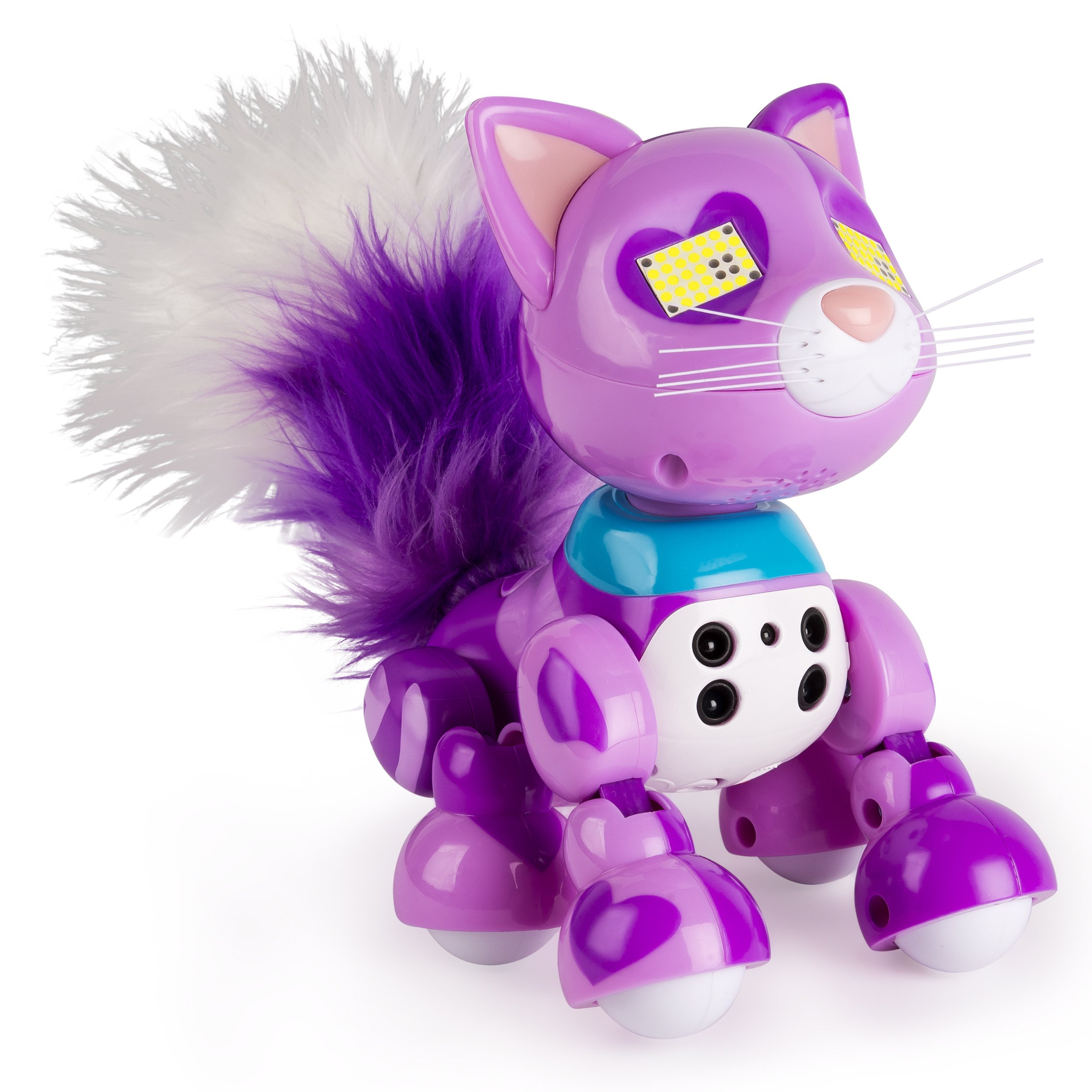 Zoomer Meowzies, Viola, Interactive Kitten with Lights, Sounds and Sensors, by Spin Master by Zoomer (Image #4)