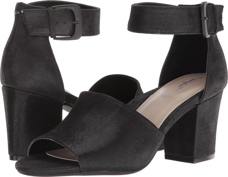 Tahari Women's Tt-Pennie Heeled Sandal B078Y9KG8C 5 B(M) US|Black Shimmer Suede