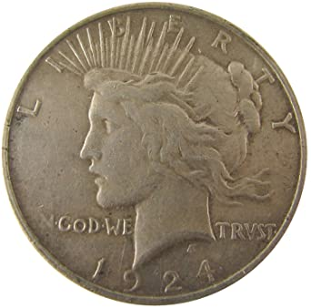 1924 PEACE SILVER DOLLAR CHOICE AU
