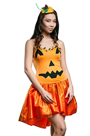 adult women pumpkin queen halloween costume jack olantern dress up role play - Halloween Jack Costume