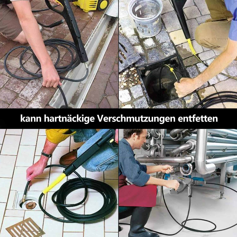vingo Tubo per pulizia scarichi Tubo 10m 180bar 60 /° C Kit per pulizia Tubo flessibile per baionetta K/ärcher con adattatore