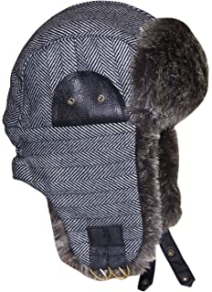 cd36591b26d5b N Ice Caps Big and Little Boys Tweed Trapper Winter Hat with Faux Fur Lining
