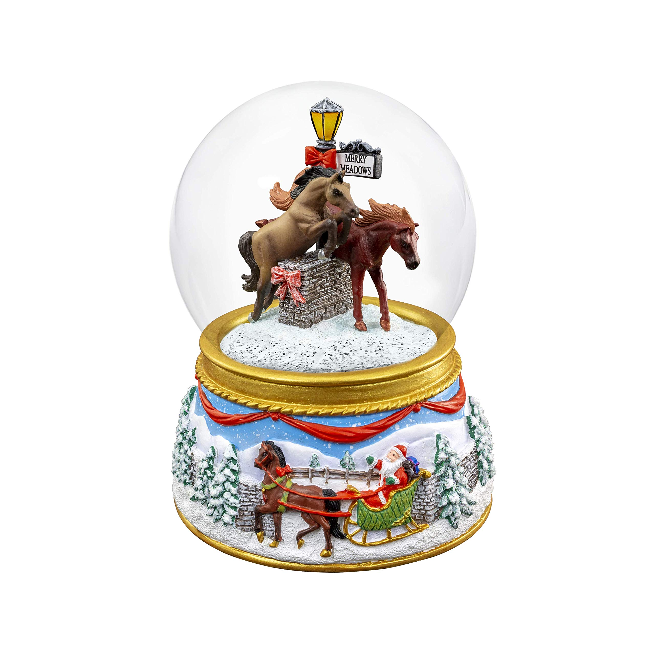 Breyer 2019 Holiday Musical Snow Globe - Merry Meadows   2019 Holiday Collection   Limited Edition   Model #700240 by Breyer