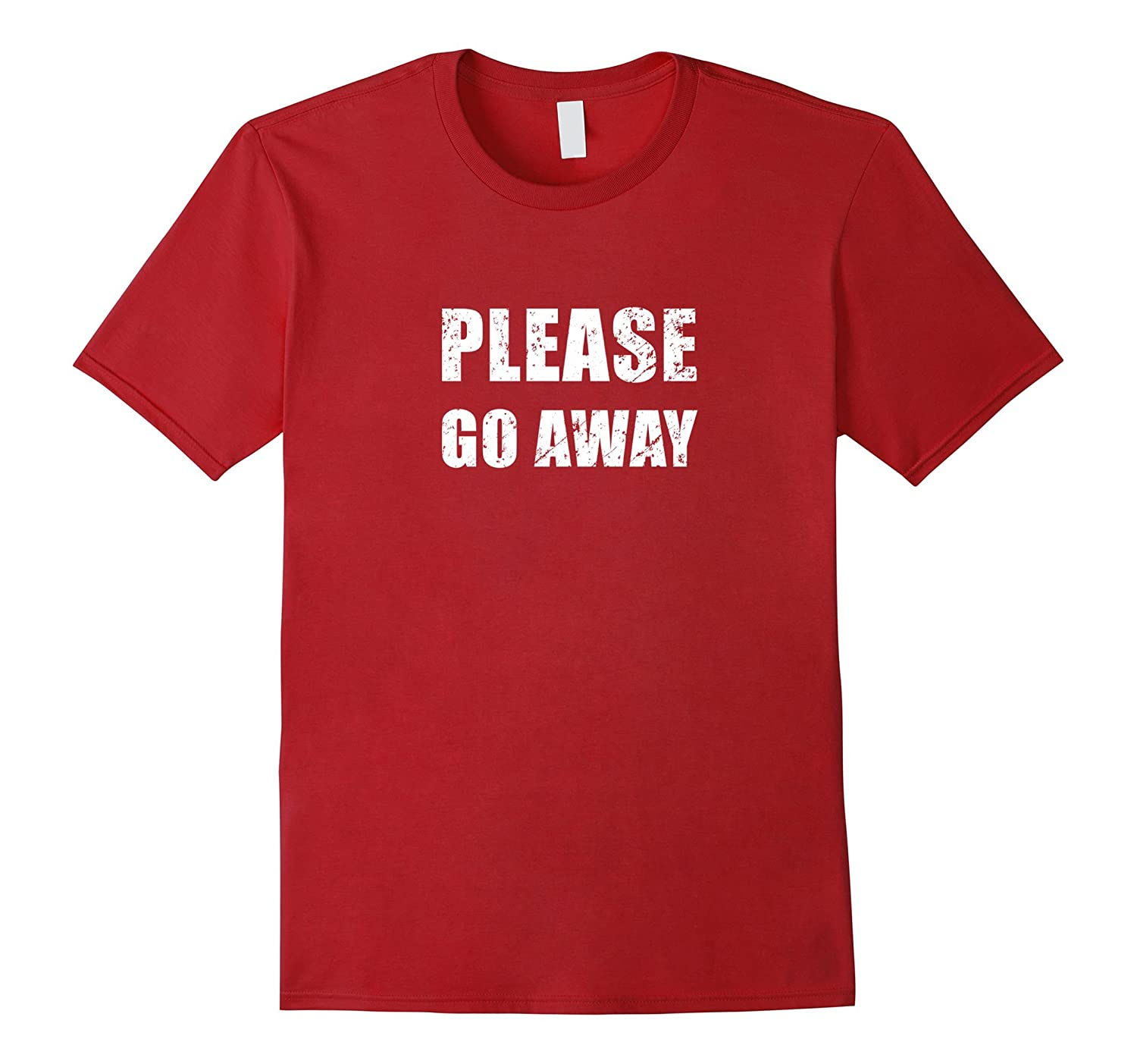 Please Go Away Antisocial T-Shirt Distressed Grunge Style-FL