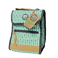 ONYX+GREEN Insulated Lunch Bag, Foldable Stylish Lunch Tote; Eco-Friendly - Made from Ramie Leaf and Jute Plant Blend– for School, Office and Home