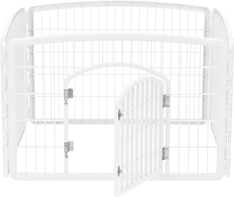 IRIS 4-Panel Pet Playpen with Door size 35.25 L x 35.25 W x 24 H