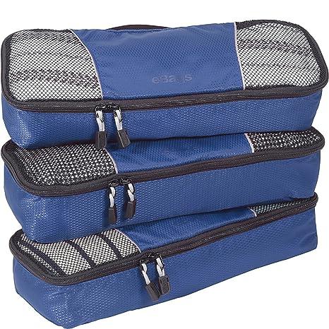 d897ace93230 eBags Slim Packing Cubes - 3pc Set (Denim): Amazon.ca: Clothing ...