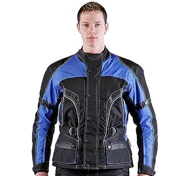 lemoko textil Chaqueta de moto, Negro azul