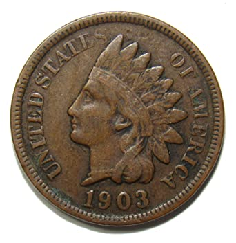 XF FREE SHIPPING 1903 Indian Head Cent Penny FULL LIBERTY VF