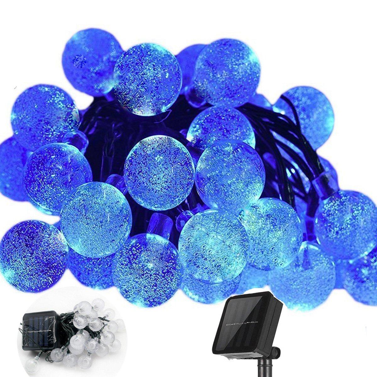 Luci Solari Sfera di Cristallo, KEEDA Impermeabile 20 Piedi 30 LED String Luci, Solare Globe Sfera Natalizia, Luci Solari per il Giardino Esterno Decorazioni Della Festa (Bianca)
