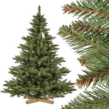 Weihnachtsbaum Künstlich Nordmanntanne.Fairytrees Künstlicher Weihnachtsbaum Nordmanntanne Grüner Stamm Material Pvc Inkl Holzständer 180cm Ft14 180