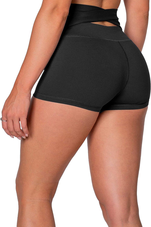 Kamo Fitness High Waist Athletic Yoga Shorts Tummy Control Workout Running