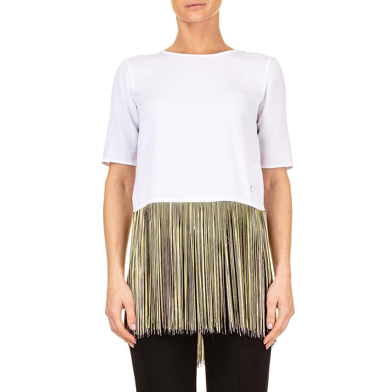 Brand Size 44 TRUSSARDI Women's 56C001771T002303W001 White Cotton TShirt