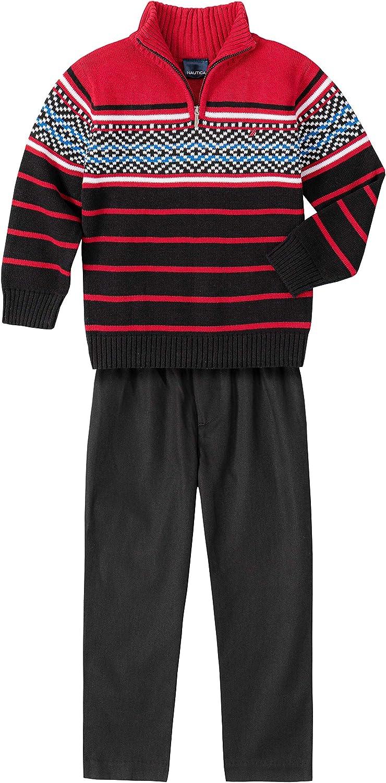 Nautica Boys 2 Piece Sweater Set with Pants