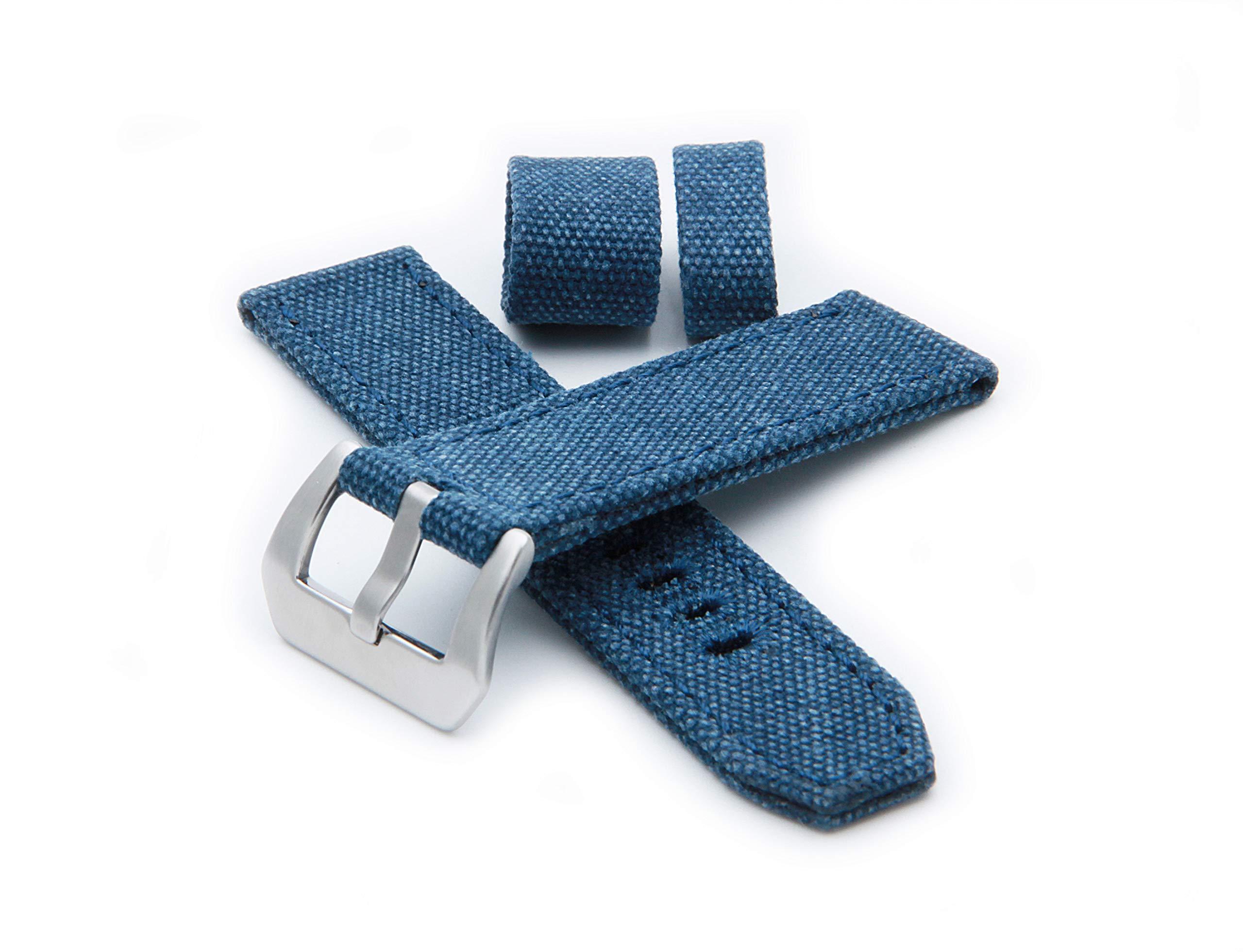 Helm Watches CS1 Canvas Watch Strap - Blue (22mm)