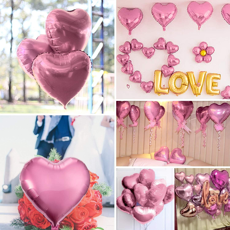 Verlobung /& Valentinstag Herzluftballon Set f/ür Geburtstag,Hochzeit gro/ße Folien Ballons /& Heliumballons in Premiumqualit/ät Uniquestore 25x Ballons Herz