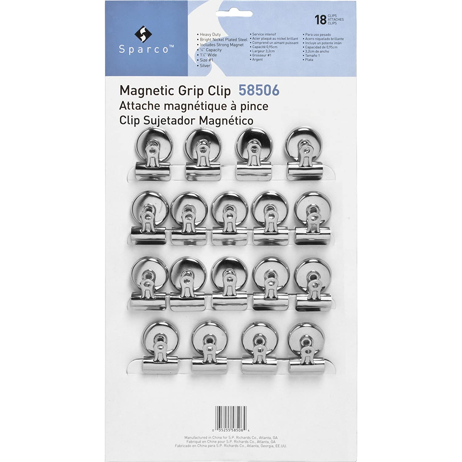 Amazon.com : Sparco Magnetic Clips Office Paper Clamp, 1