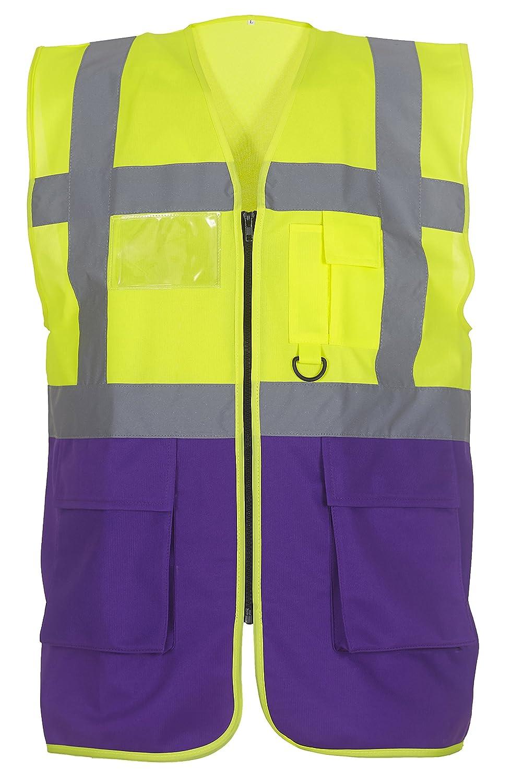 18 Colours//Sml Yoko Multifunctional Executive Hi Vis Waistcoat 3XL