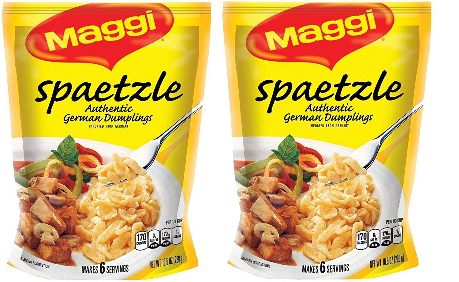 Maggi Spaetzle, Authentic German Dumplings, 10.5 oz ( 2 Pack )