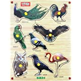 Webby Premium Wooden Birds Educational Puzzle Toy