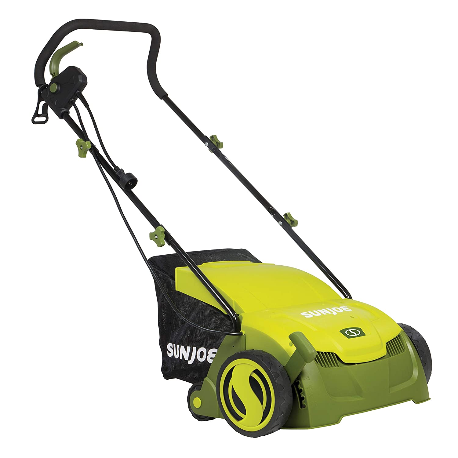 Sun Joe AJ801E-RM Electric Lawn Dethatcher w Collection Bag 13 in. 12 Amp Scarifier Renewed