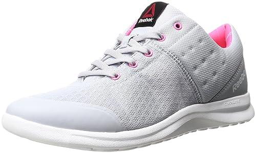 Reebok dmx lite prime walking shoes (cloud greypoison pink