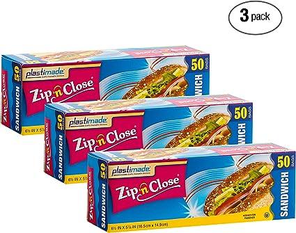 Amazon.com: Plastimade Zip N Close Bolsas de almacenamiento ...