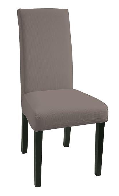 SCHEFFLER-Home MIA Microfibra 2 Fundas de sillas, Estirable Cubiertas de la sillas, extraíble elástica Funda, Tela Lycra con Banda elástica para un ...