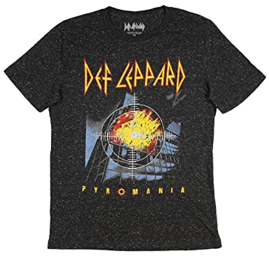f4ecdc2d83755 Amazon.com  Fashion Def Leppard Pyromania Black Graphic T-Shirt ...