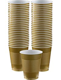 Amscan Big Party Pack Gold Plastic Cups | 16 oz. | Pack of 50 | Party Supply - AMI 436801.19