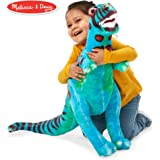 "Melissa & Doug T-Rex Giant Stuffed Animal, Wildlife, Bold Colors, Soft Polyester Fabric, Stands on Two Feet, 26"" H x 30"" W x 9"" L"