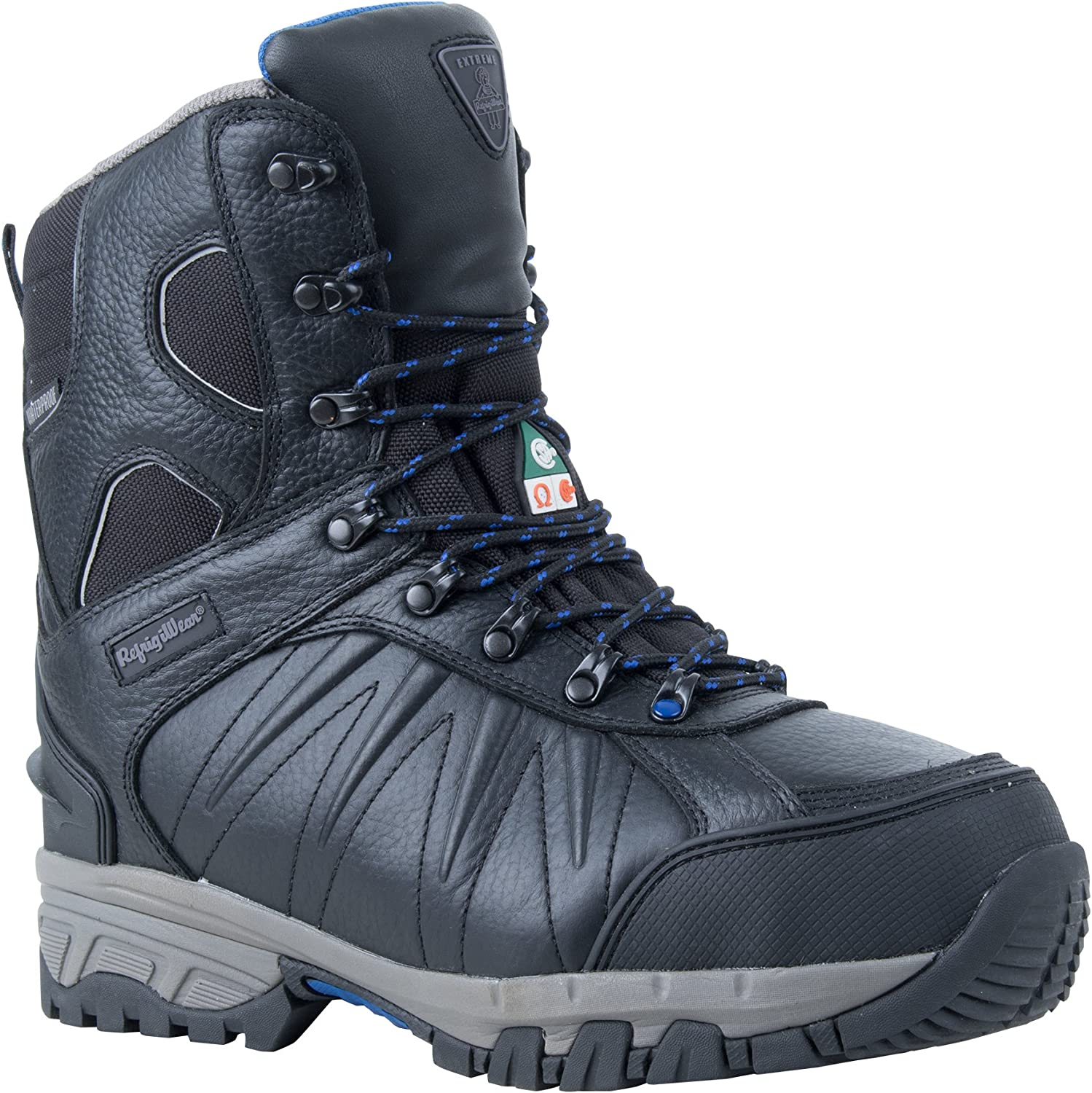 RefrigiWear Men's Extreme Insulated Waterproof 8-Inch Leather Freezer Work Boots