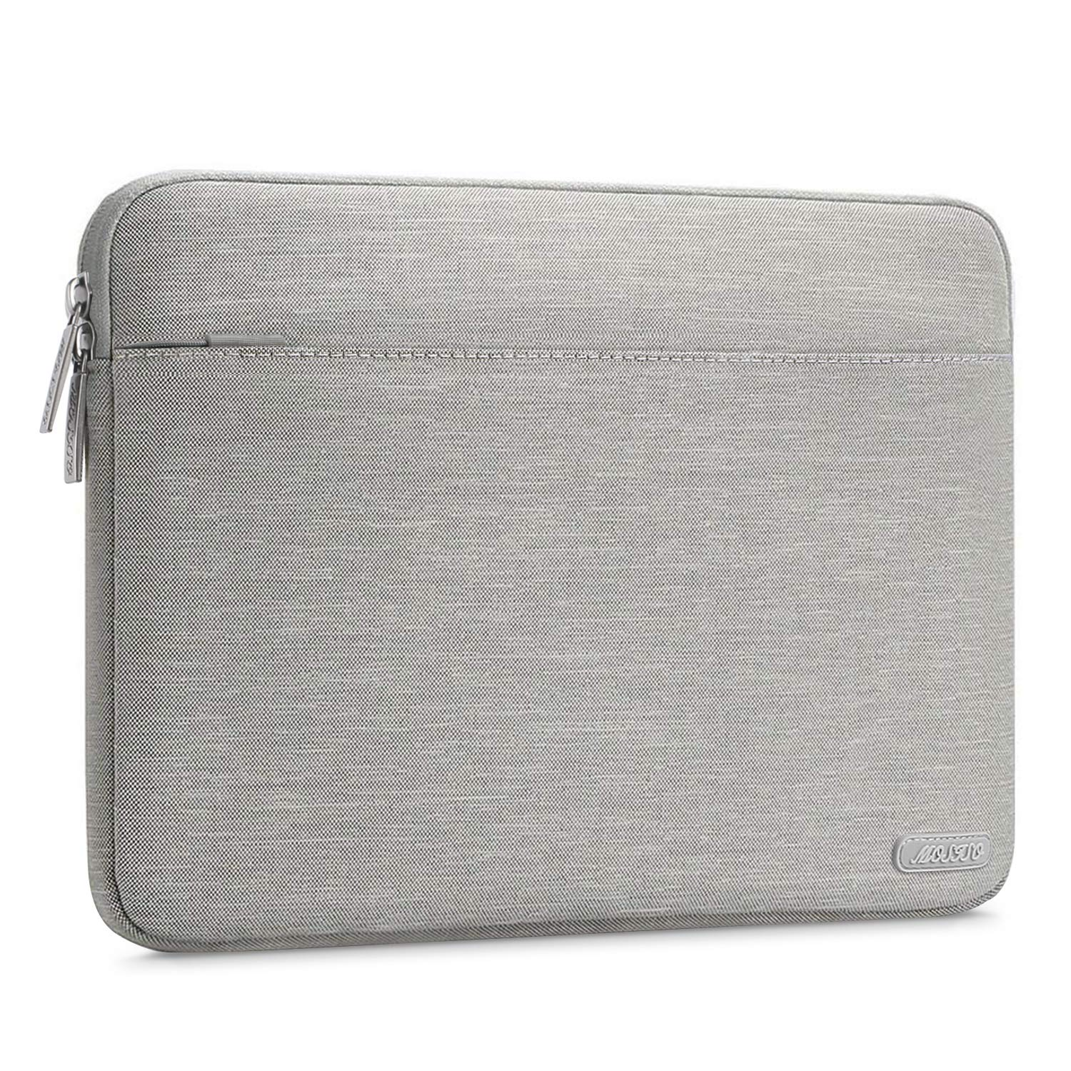 MOSISO Laptop Sleeve Bag Compatible 13-13.3 Inch MacBook Pro, MacBook Air, Notebook Computer, Spill Resistant Polyester Horizontal Protective Carrying Case Cover, Gray