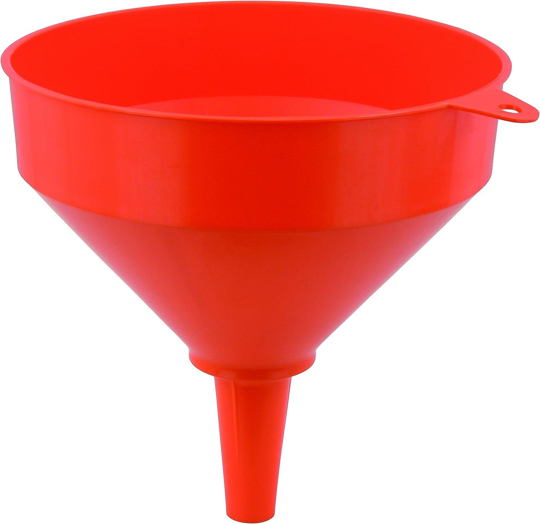 5 x Kunststoff-Trichter groß 17cm Durchmesser 2L mit Filter Einfülltrichter rot
