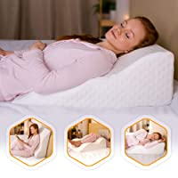 AERIS Wedge Pillow for Acid Reflux -%100 Memory Foam - Unique Curved Design - Helps...