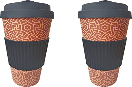 BlackBerry Eco-Friendly /& Made from Natural and Organic Bamboo Fibre Uniqup Travel Mug Reusable Coffee Cup