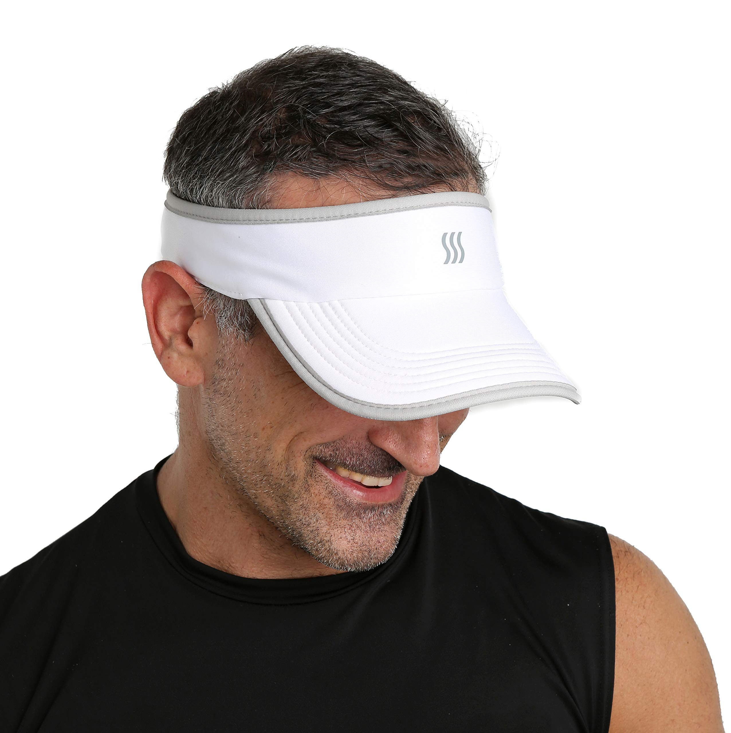Men's Super Absorbent Sports Visor. Fully Adjustable & Nonslip