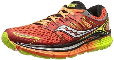 Saucony Triumph ISO - Zapatillas de Running Unisex, Color Rojo/Naranja/Amarillo, Talla 46: Amazon.es: Zapatos y complementos