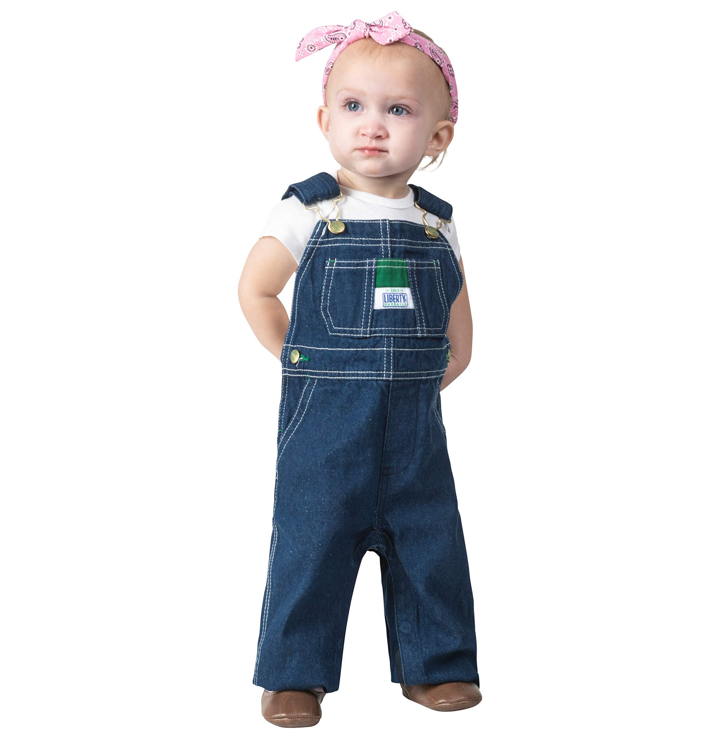 Liberty Kids' Toddler Denim Bib Overall, Rigid Blue, 18