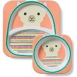Skip Hop Zoo Melamine Plate and Bowl Set, Llama