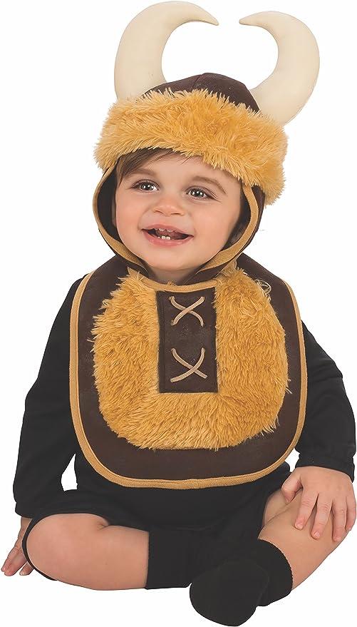 Rubies - Disfraz Babero con sombrero de vikingo, para bebé 6-12 ...