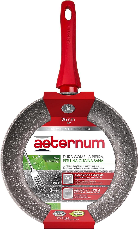28 cm Alluminio Rosso Aeternum Rubino Induction Padella
