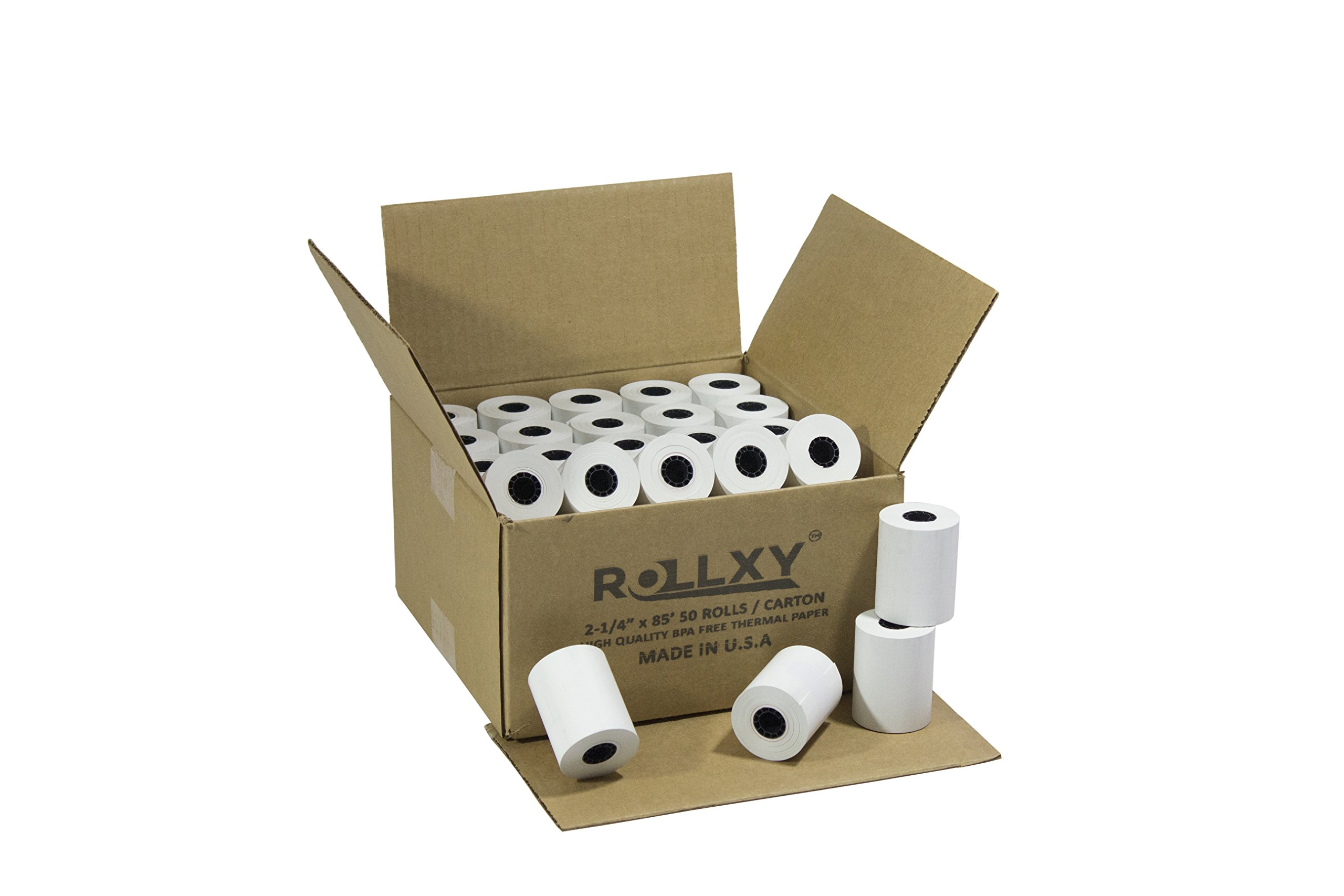 (50 Rolls) 2 1/4 x 85' First Data FD130 FD50 FD400 FD55 FD100Ti Thermal ROLLXY Paper (50 Rolls) by PosPaperRoll