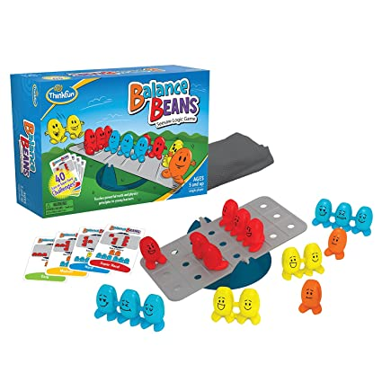 bb28d984bfd Amazon.com  ThinkFun Balance Beans Math Game For Boys and Girls Age 5 and  Up - A Fun