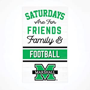 P. Graham Dunn Saturdays Marshall University NCAA 24 x 14 Birch Wood Pallet Décor Sign