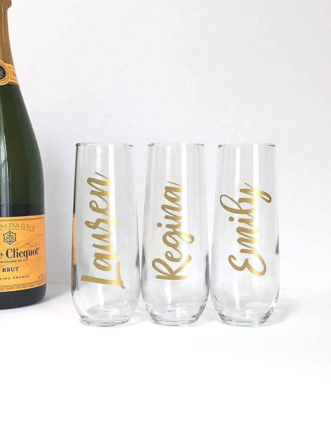 Personalized Champagne Flutes - Birthday - Bachelorette - Bridal Party Gift
