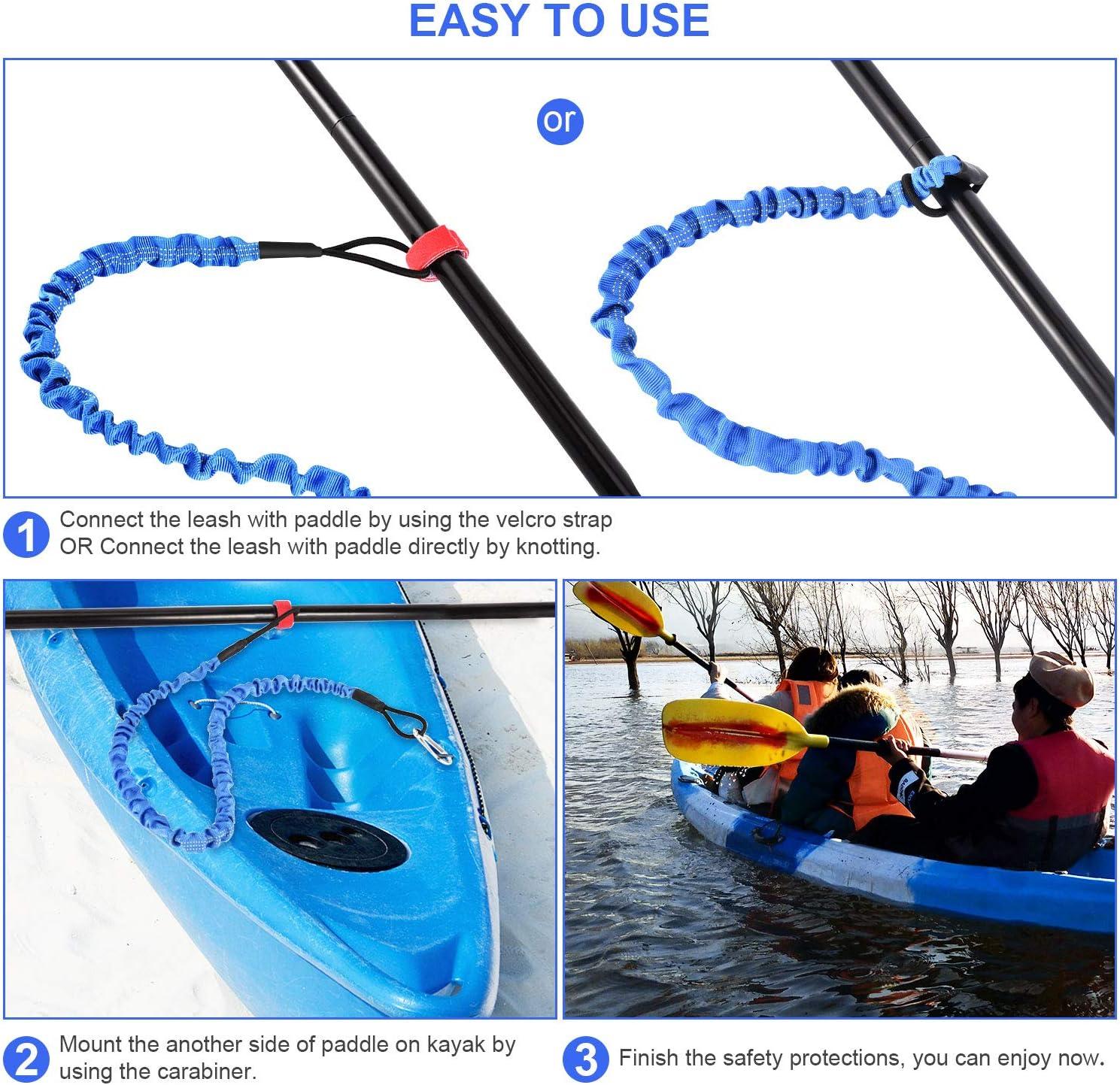 Karabiner Elastic Kayak Paddle Leash Zubehör Leine Angelrute Lanyard W