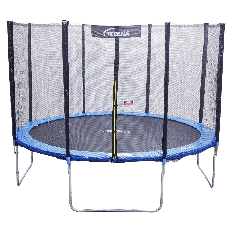 Terena® Trampolin 366 cm mit Netz Sicherheitsnetz Gartentrampolin für Kinder 12ft