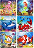 Wooden Jigsaw Puzzles for Kids Ages 3-5 Toddler Puzzles 20 Pieces Preschool Educational Learning Toys Set Animals…
