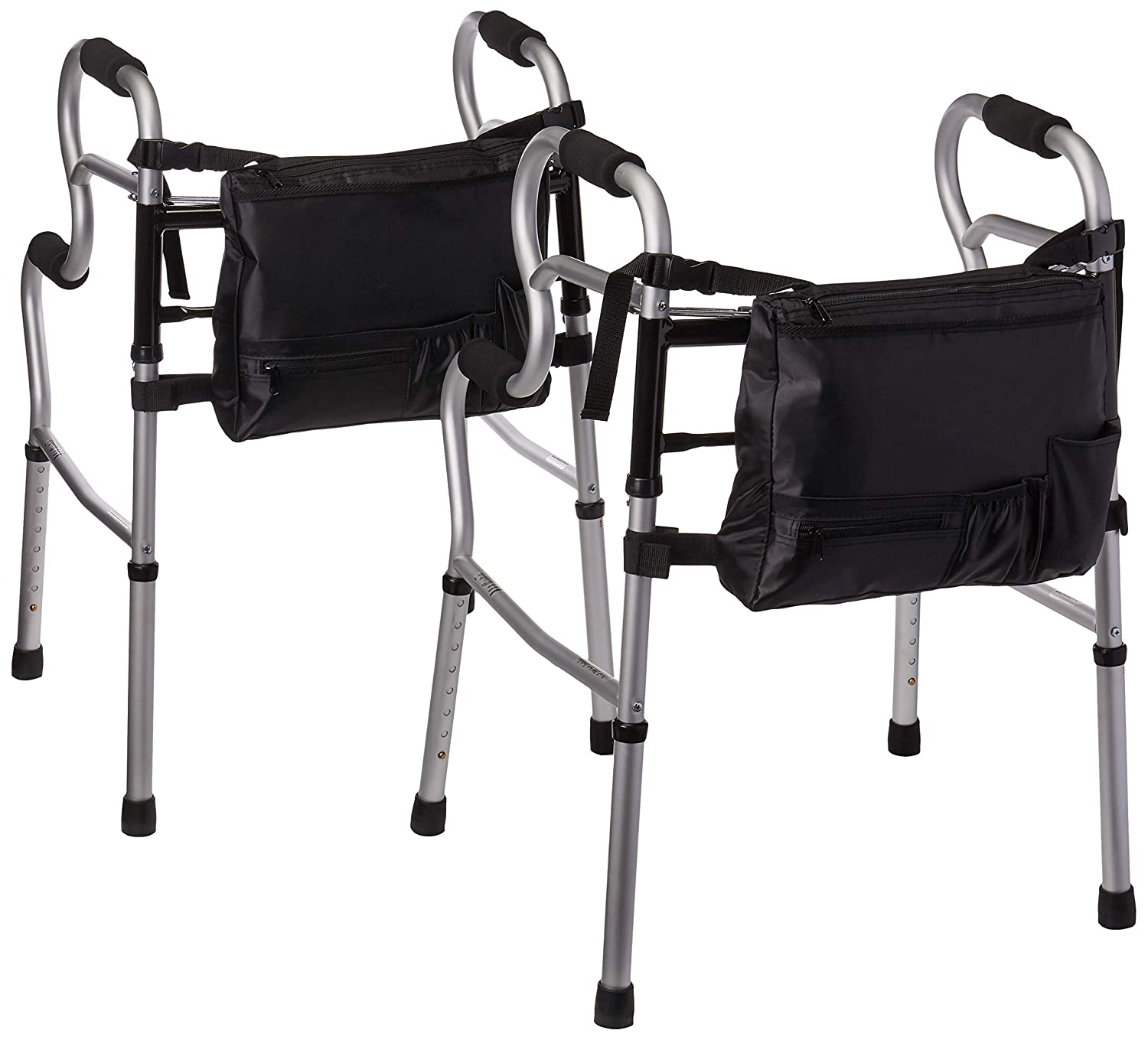 Amazon.com: Medline MDS86410UR 3-in-1 Stand Assist Walker with Bag, Silver (Pack of 2): Health & Personal Care